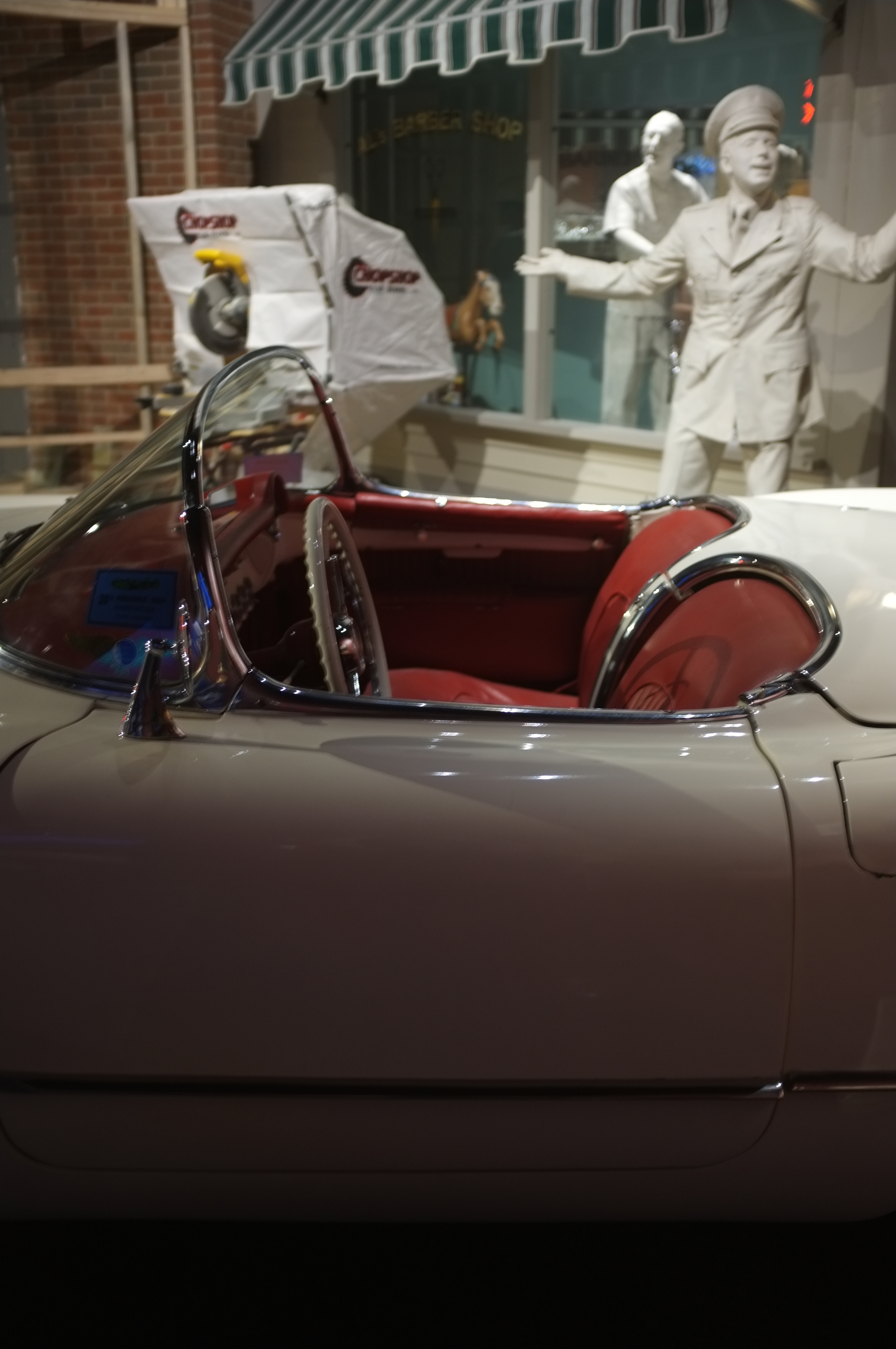 Hands off: the original Corvettes were all produced without door handles or locks.