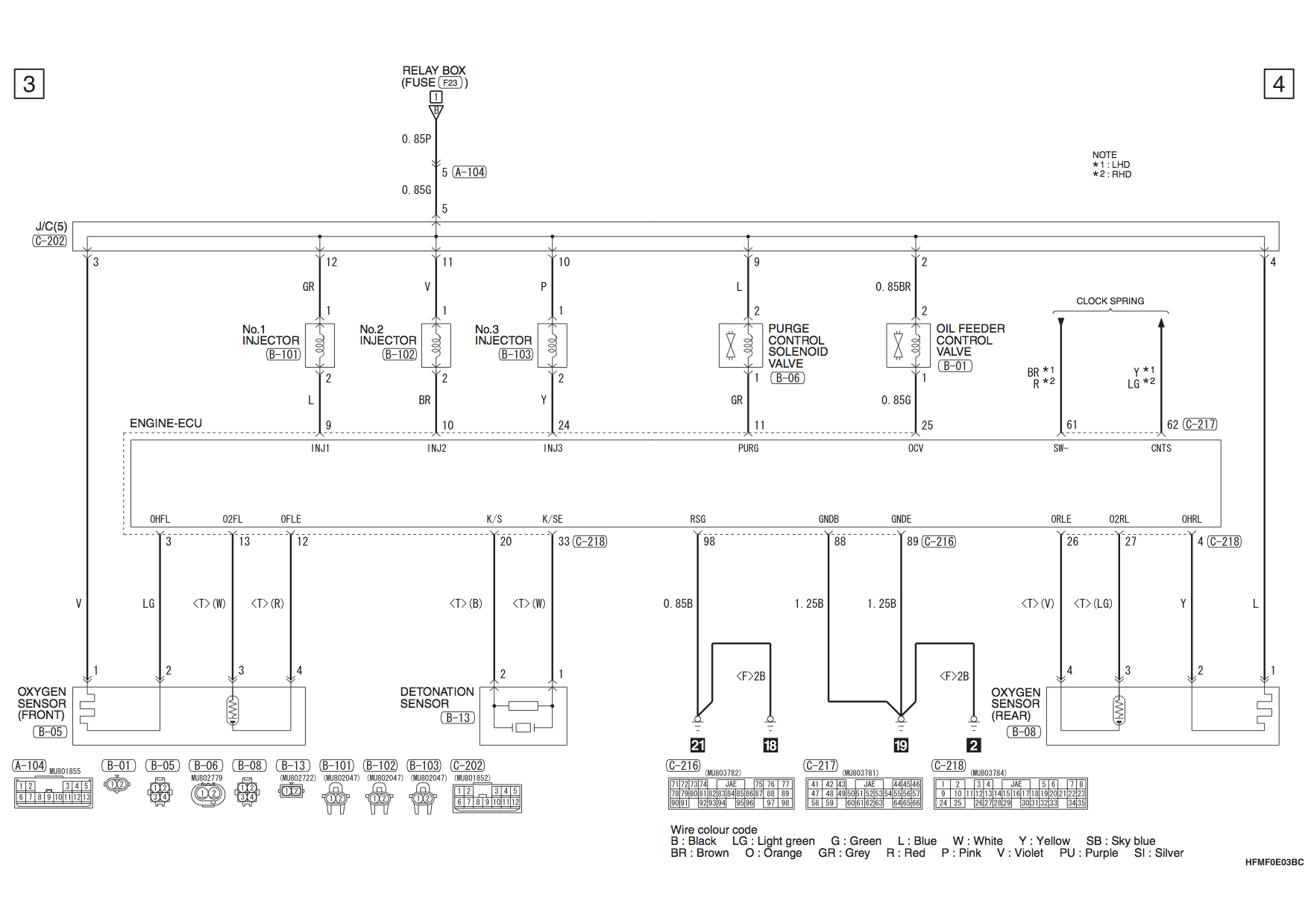 Mitsubishi Mirage 2 1 2 Petrol Circuit Diagrams Car Mechanics