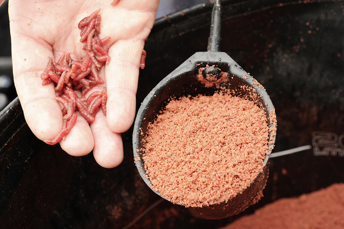 The groundbait line is fed more heavily with crumb and groundbait and maggot, and maggot hookbait.