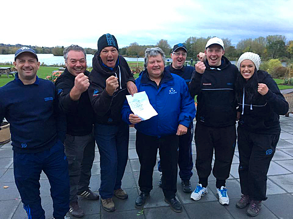 Preston's winning side with organiser Joe Roberts.
