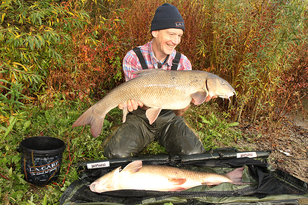 John and his pair of huge Thames barbel.