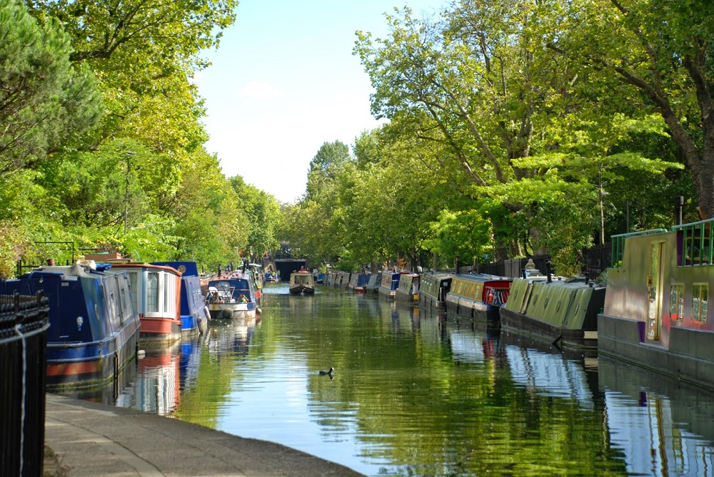 London's Little Venice is great for perch and pike fishing