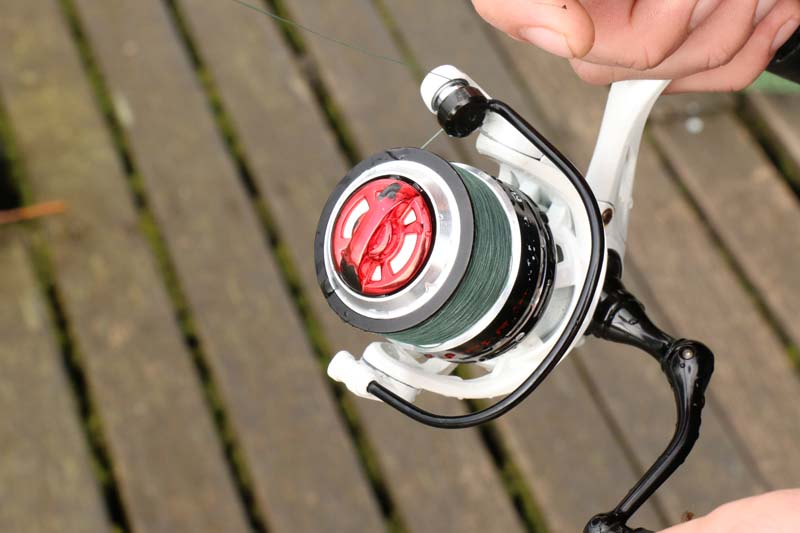 The X9 will load up well on small reels - perfect for perch fishing.jpg