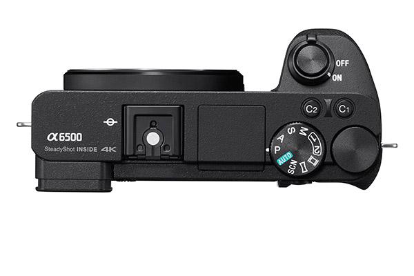 Sony Alpha 6500 - top