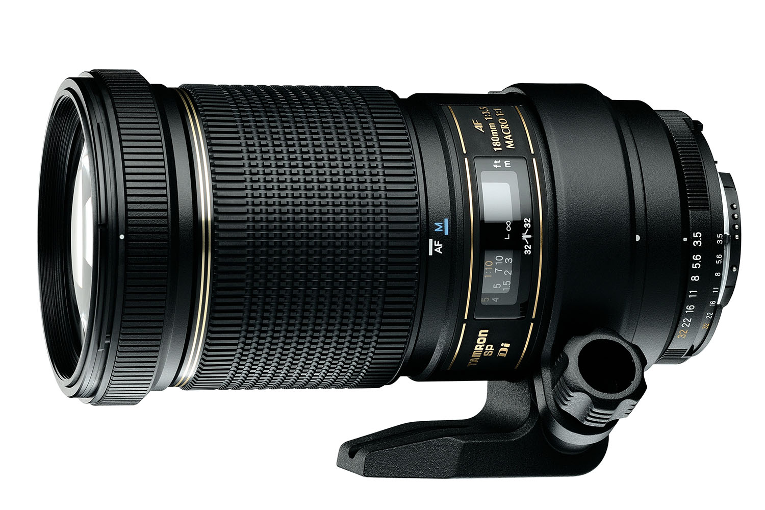 The telephoto Tamron SP AF 180mm f/3.5 DI LD IF Macro