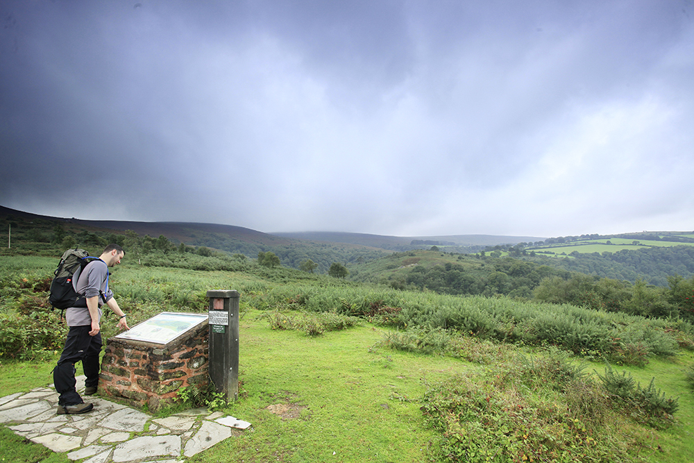 Looking into Exmoor.  Photograph : Tom Bailey / Country Wlaking Magazine