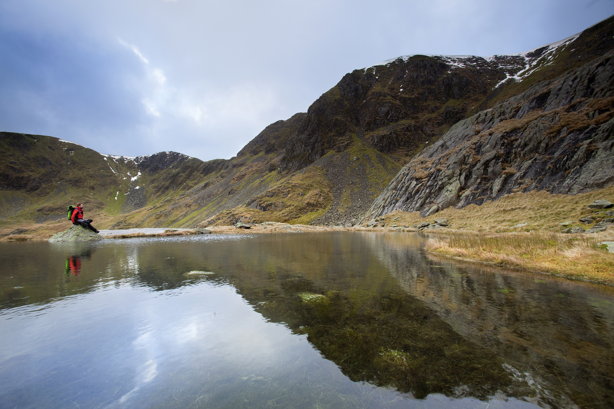 Hard Tarn, beneath Nethermost Pike. Truly a wild wonder of the Lakes.  Photo : Tom Bailey © Trail Magazine