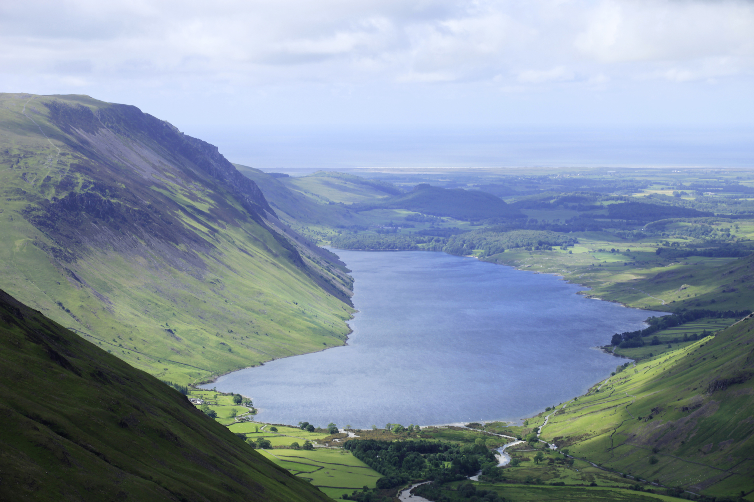 Wast Water from the sloes of Scafell Pike. Photo: Tom Bailey © Trail Magazine