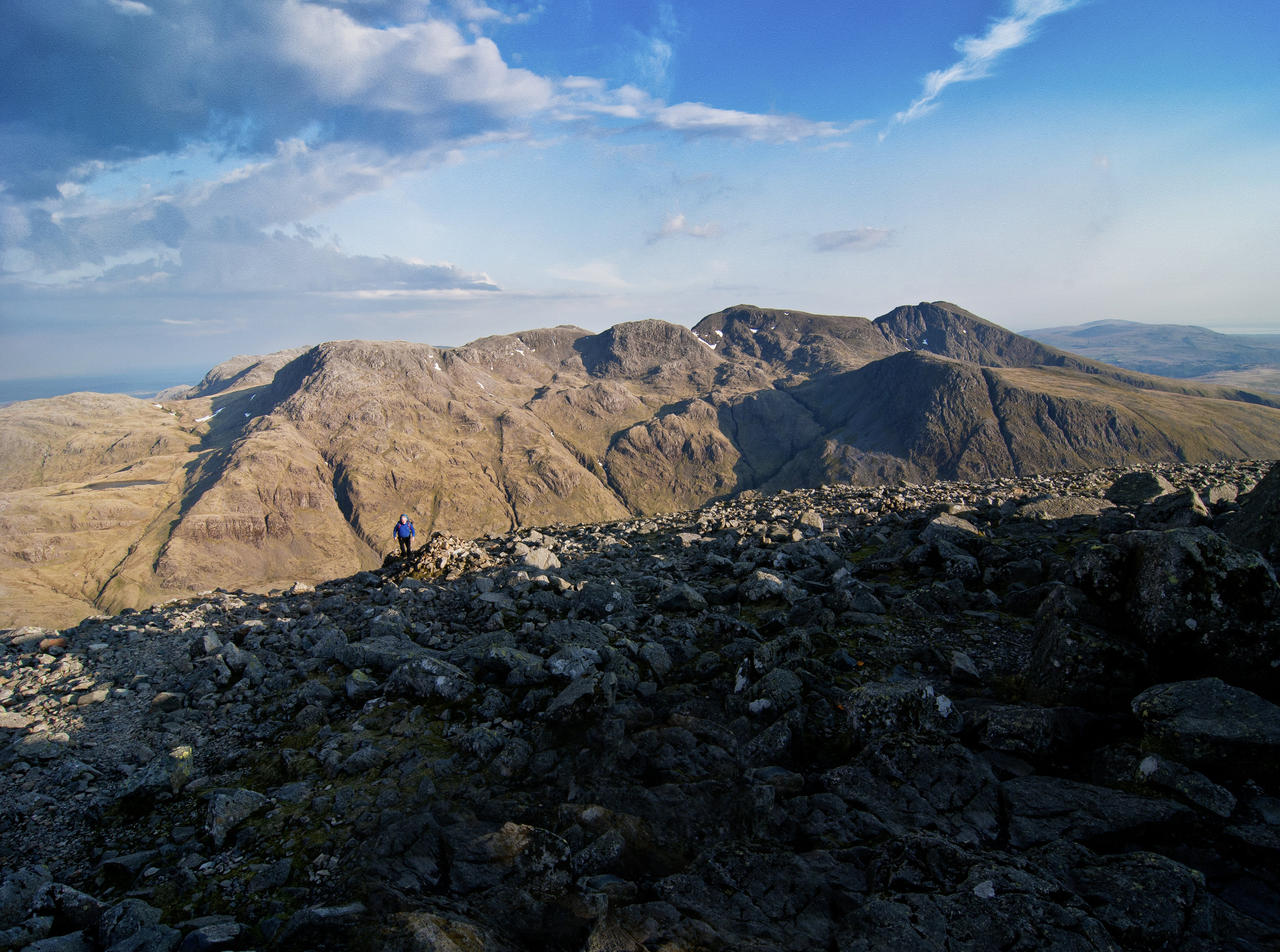 The Scafells from the summit of Great Gable at dawn.  Photo : Matthew Roberts