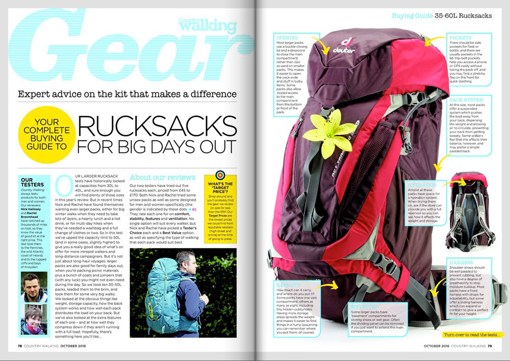 Rucksack & boots on test