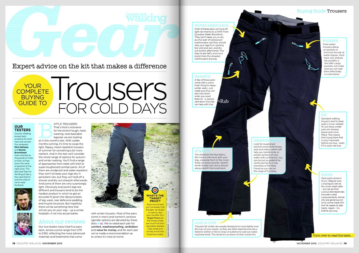 Winter-weight trousers