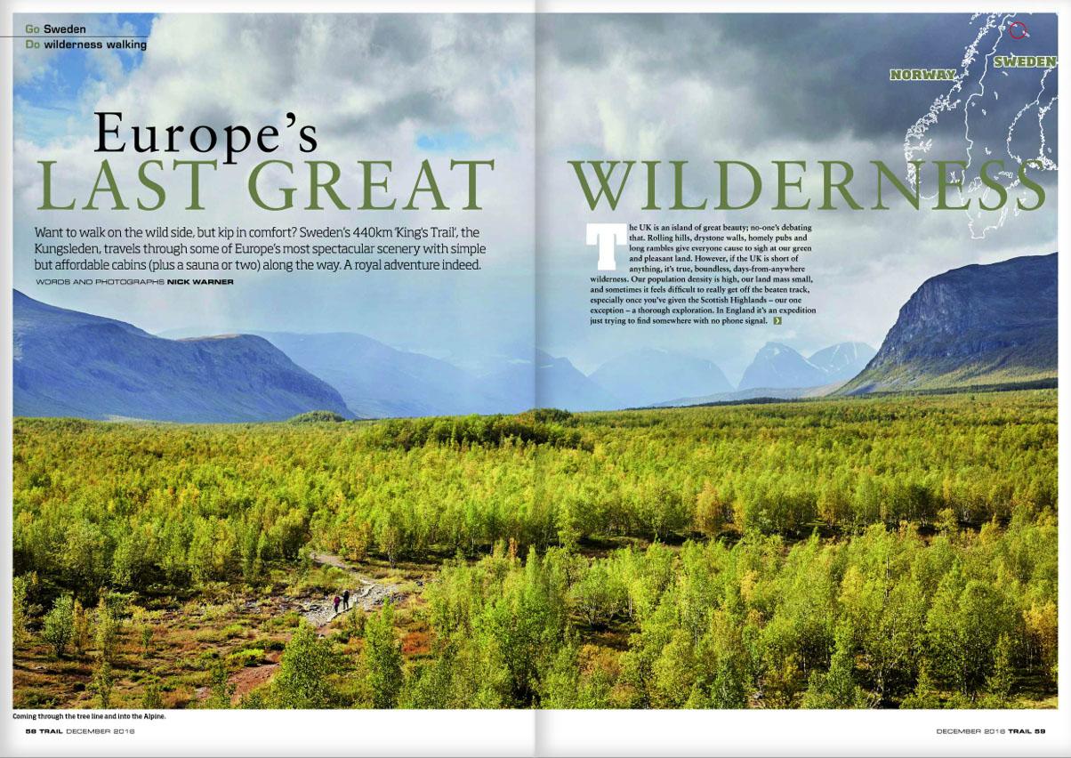 GO  Sweden -  DO  wilderness walking.