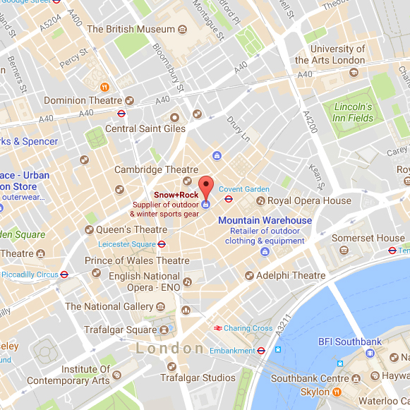 Central London Google Map.Patagonia Worn Wear Returns Live For The Outdoors