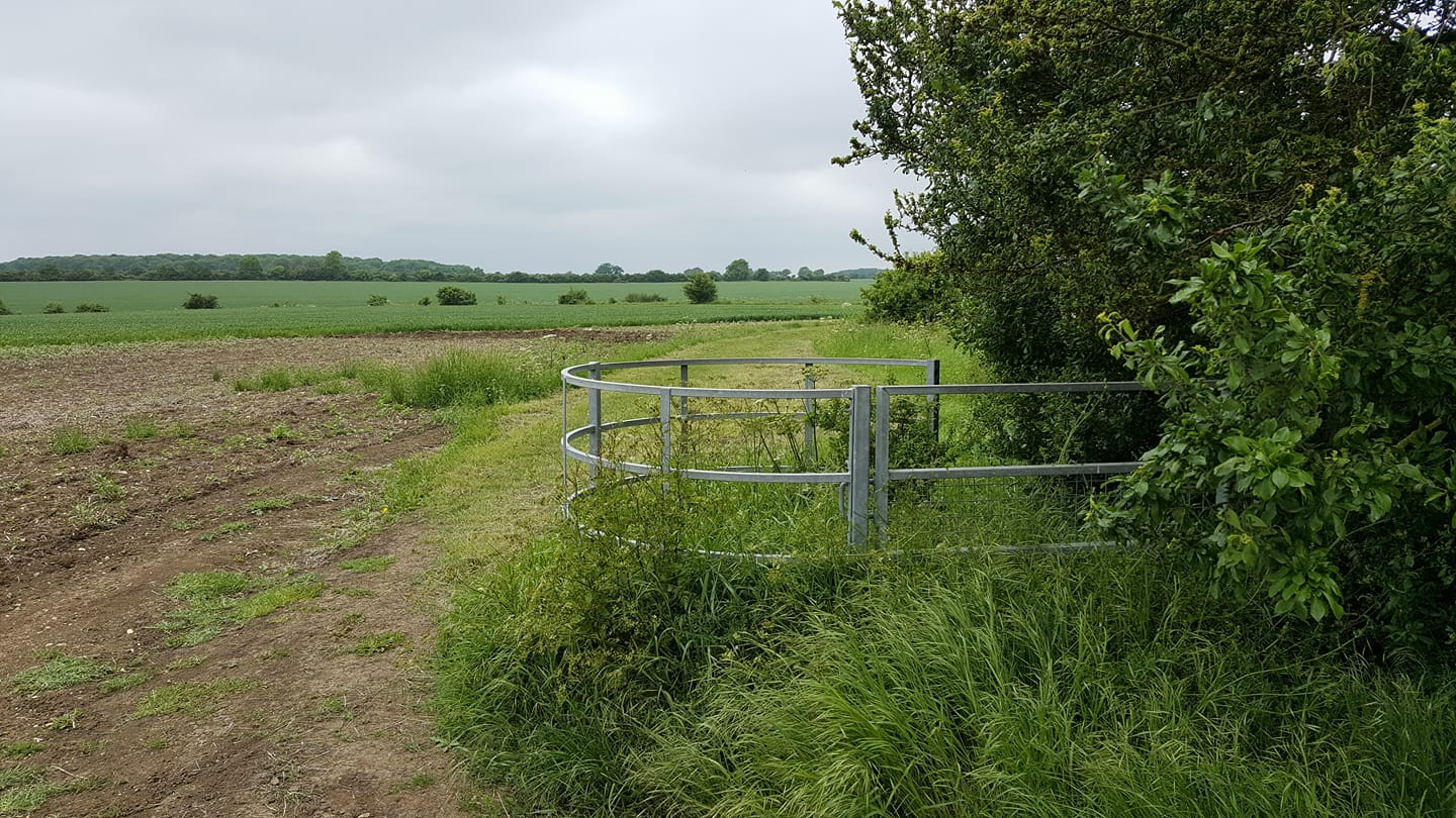 Sue Mulley spotted this gate doing a passable impression of an abandoned Ifor Williams trailer.