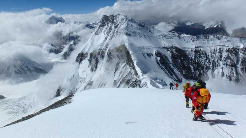 Acclimatising high above the North Col on our final rotation. Image by Jon Gupta