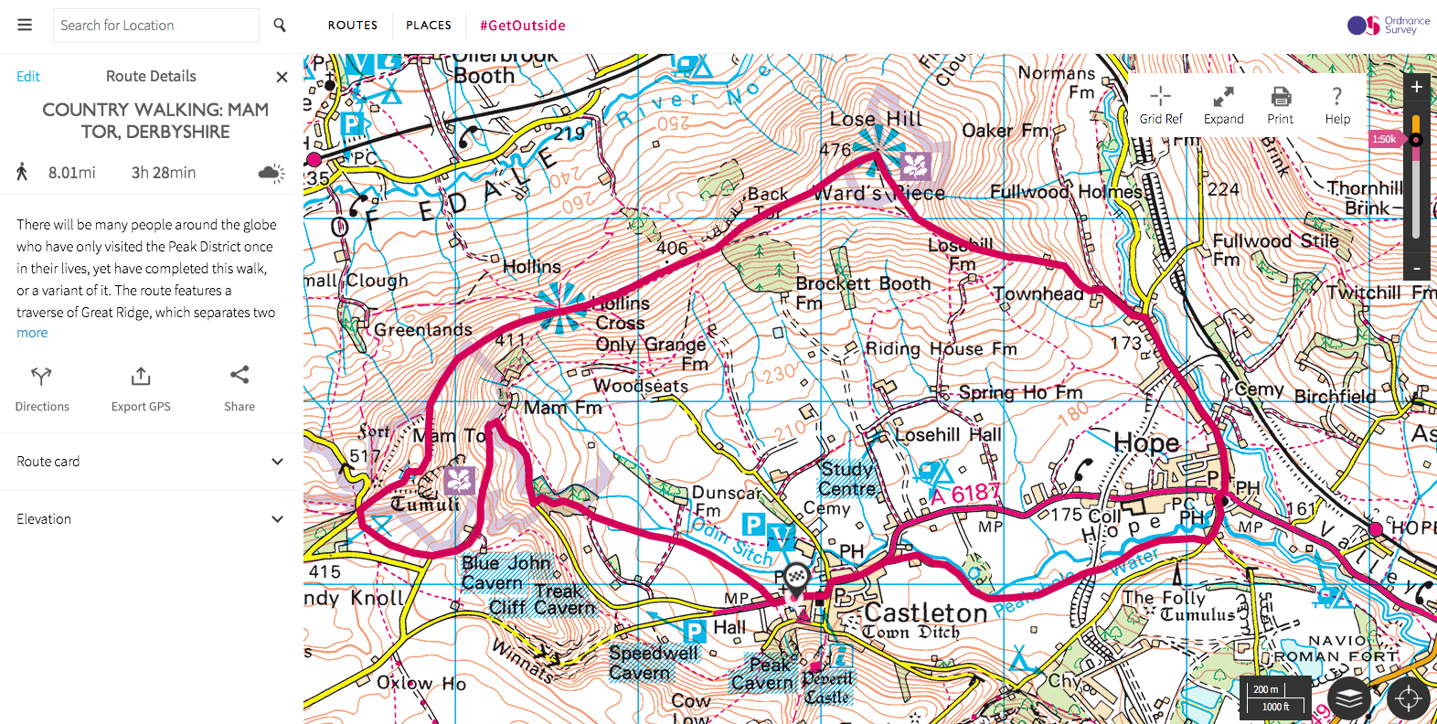Os Walking Maps COUNTRY WALKING ROUTES INDEX — Live for the Outdoors