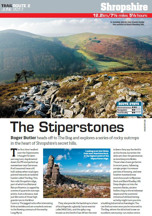 Discover Shropshire's secrets   If you've never heard of Stiperstones, its time you made a beeline for Shropshire. With its ridgeline of impressive rocky outcrops and host of ghostly legends you'll get more than just a few metres towards your Everest goal on this route.  Total ascent: 365 metres
