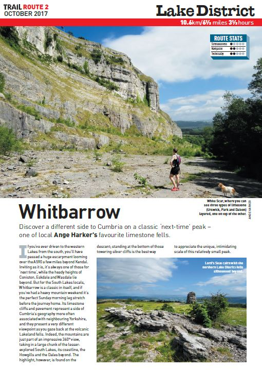 A Lakeland Lovely   Uncover a local's secret with this fantastic little route to Whitbarrow Scar in the Lake District.  Total ascent: 425 metres