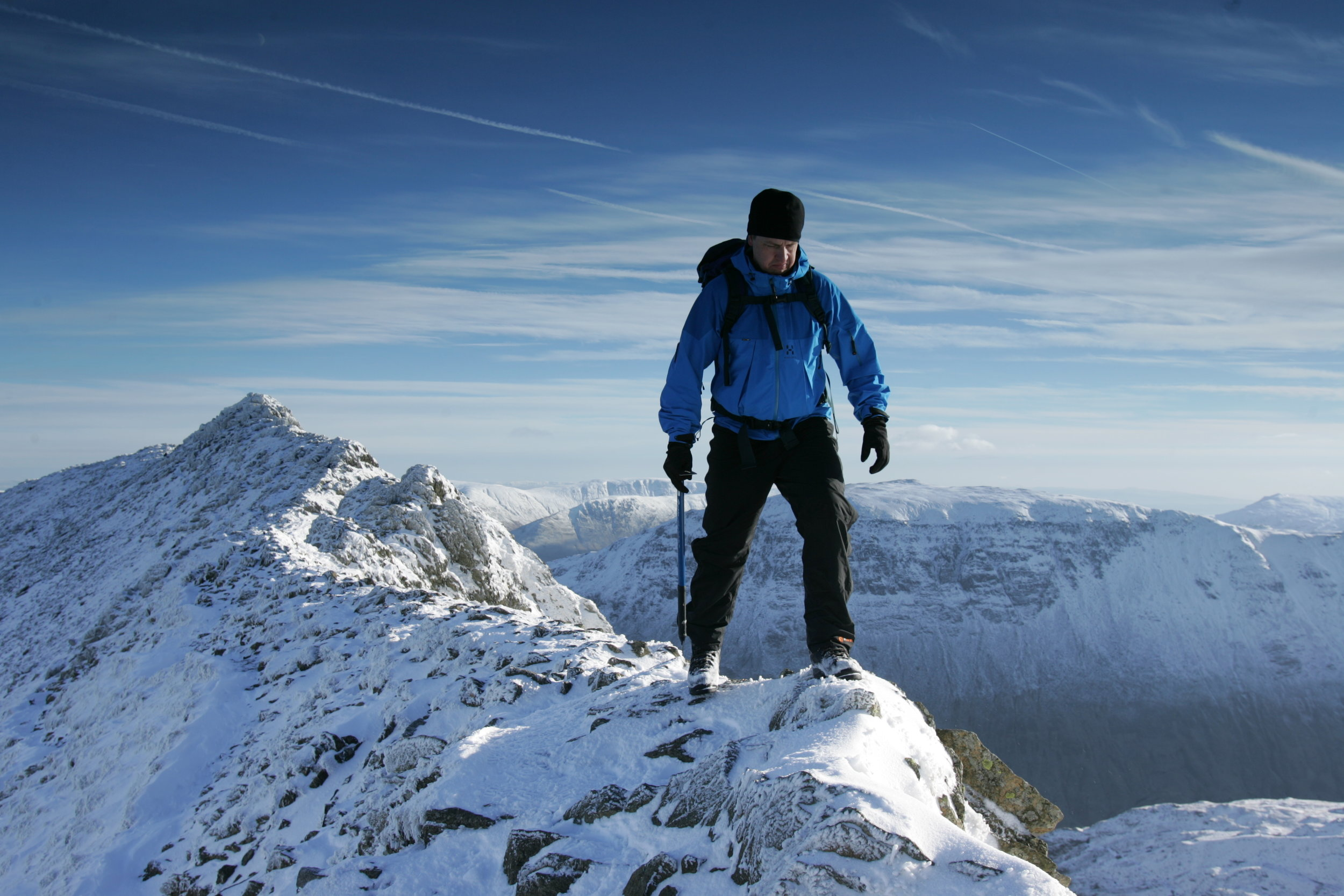 Winter is not the time for Striding Edge, unless you know how to handle an ice axe and crampons. Picture: Tom Bailey, Trail Magazine