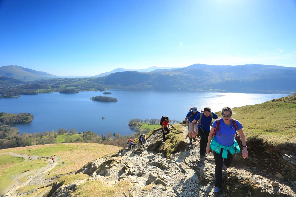 Climbing Cat Bells in the Lake District as part of the Keswick Three Peaks.  Photo : Tom Bailey / Trail Magazine