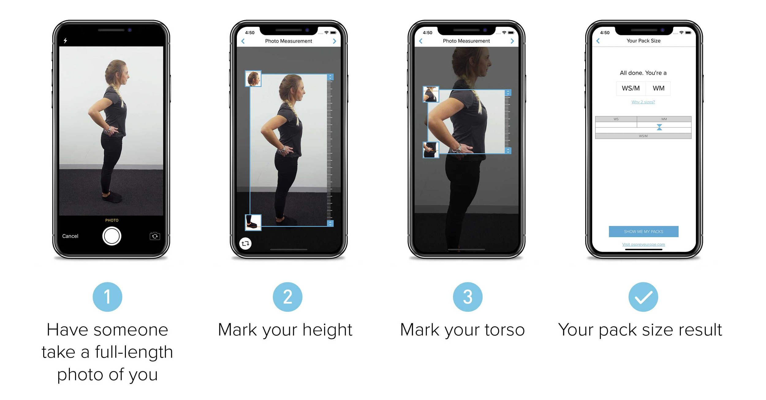 Get the perfect fit with Osprey's Digital Pack Sizing App