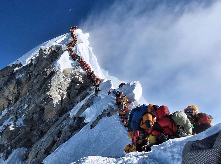 Nirmal Purja MBE's recent image of queues on the Hillary Step near Everest's summit, which has sent shockwaves around the world.