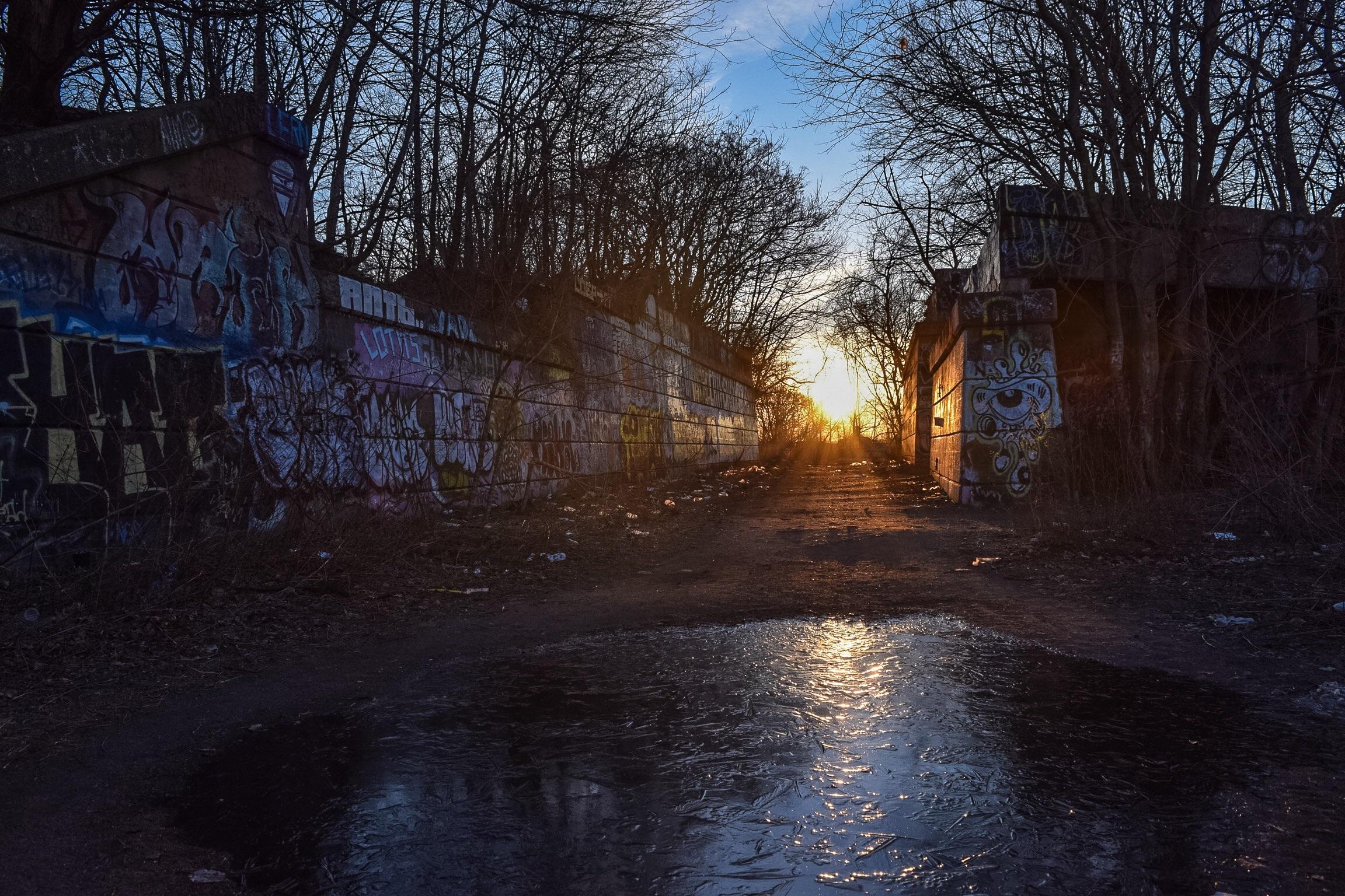 Sunrise over Graffiti Pier, March 2016
