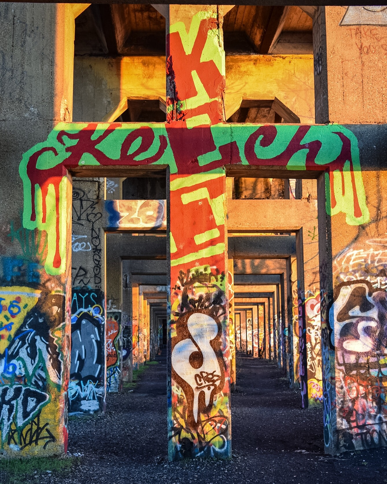 Keech is one of the city's premier graffiti artists, known for his big, bold, and colorful pieces.