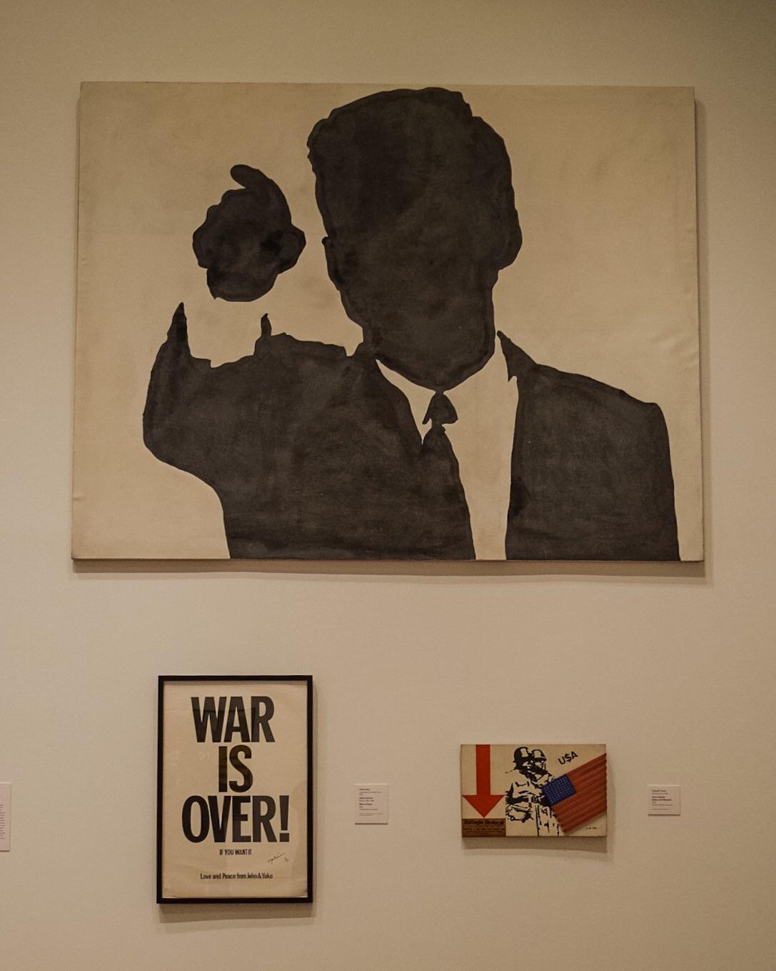 John Fitzgerald Kennedy, Sergio Lombardo, 1963  War is Over!, Yoko Ono & John Lennon, 1969  Uses and Abuses, Claudio Pozzi, 1966