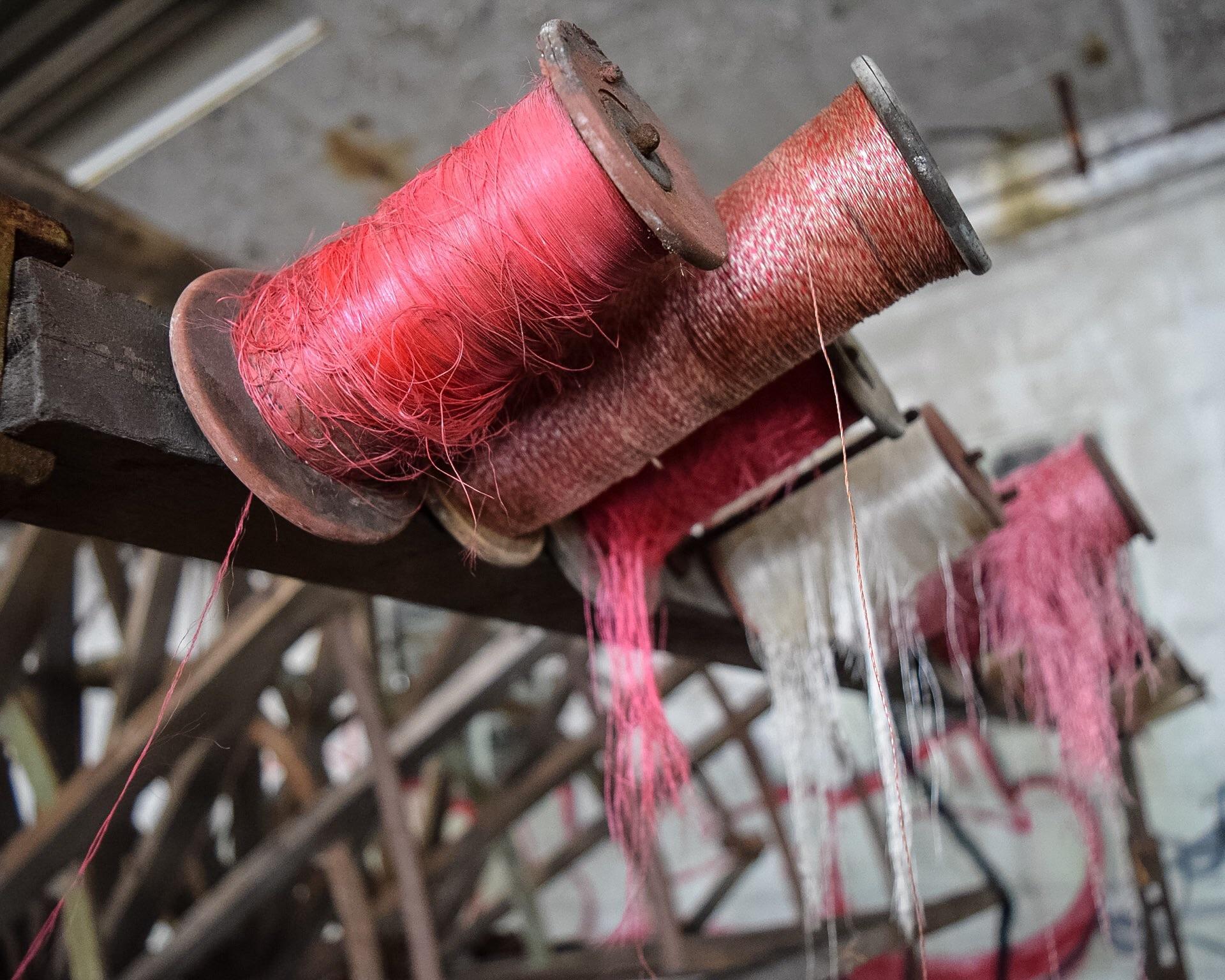 Fibers on the loom