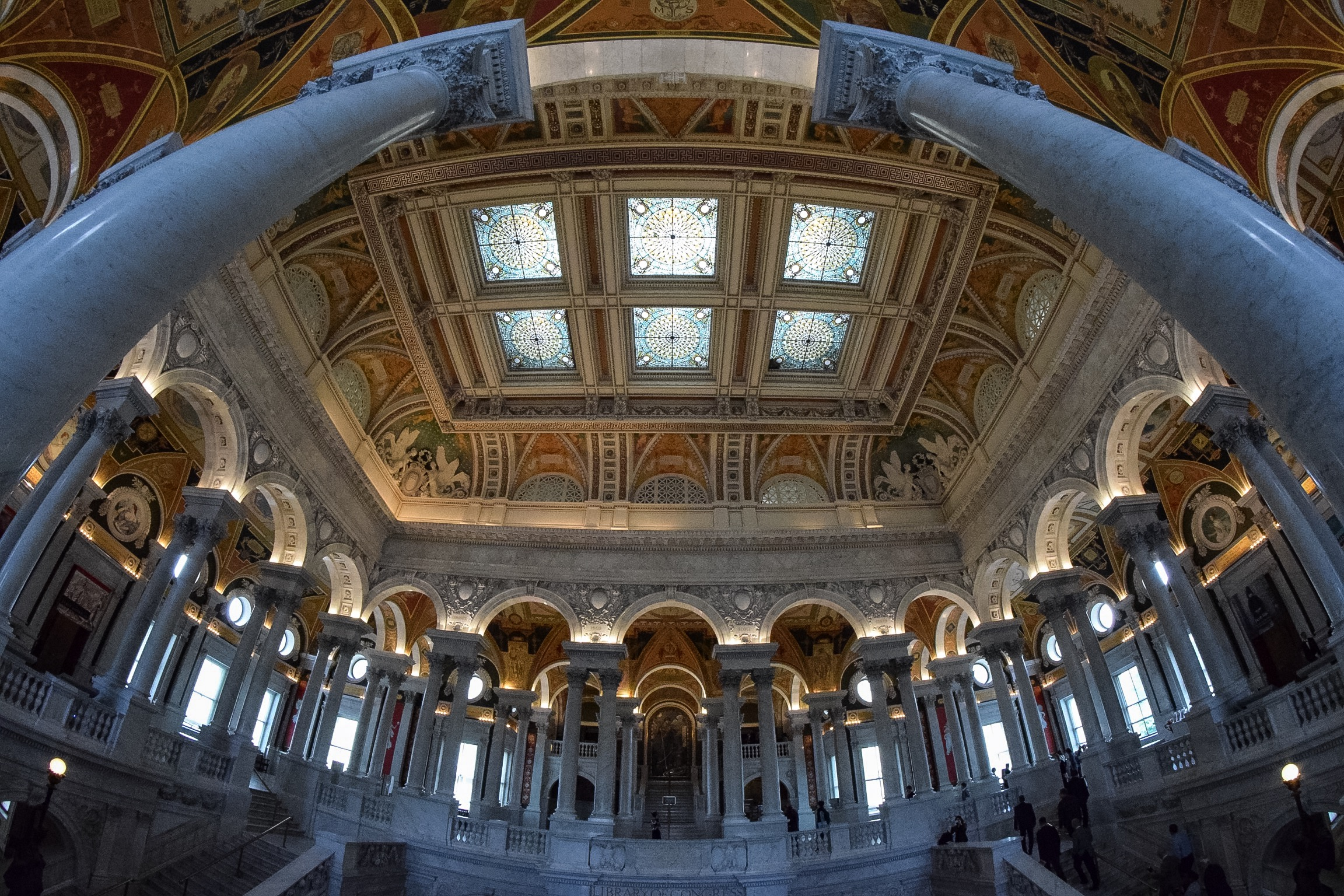 The Library of Congress is free to tour and features some of the most stunning architecture in the district.