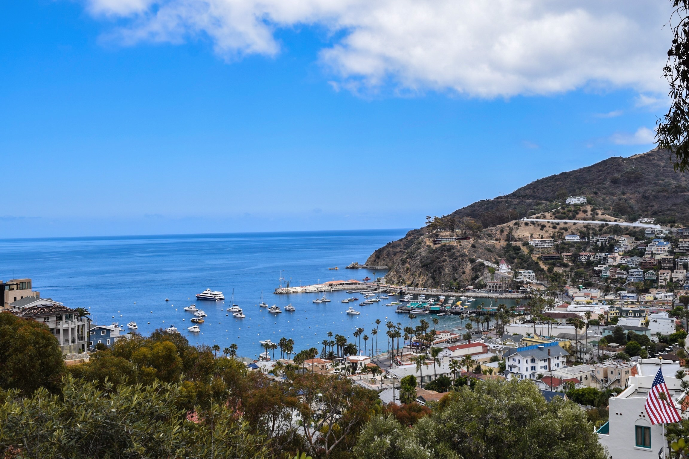 Catalina Island -Rent a bike or golf cart and see this beautiful island 22 miles off the coast.