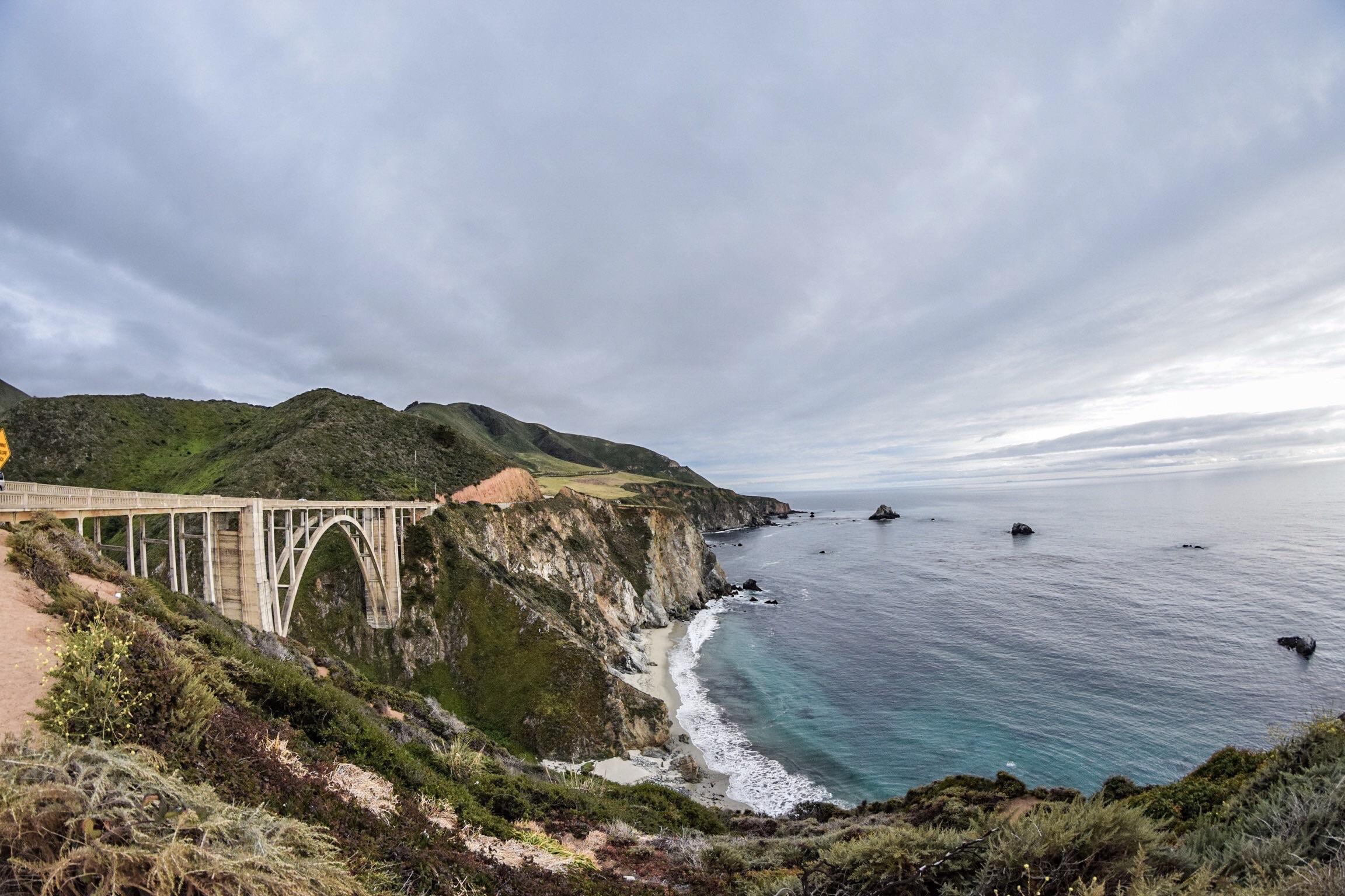 Bixby Bridge, north of Big Sur and south of Monterrey