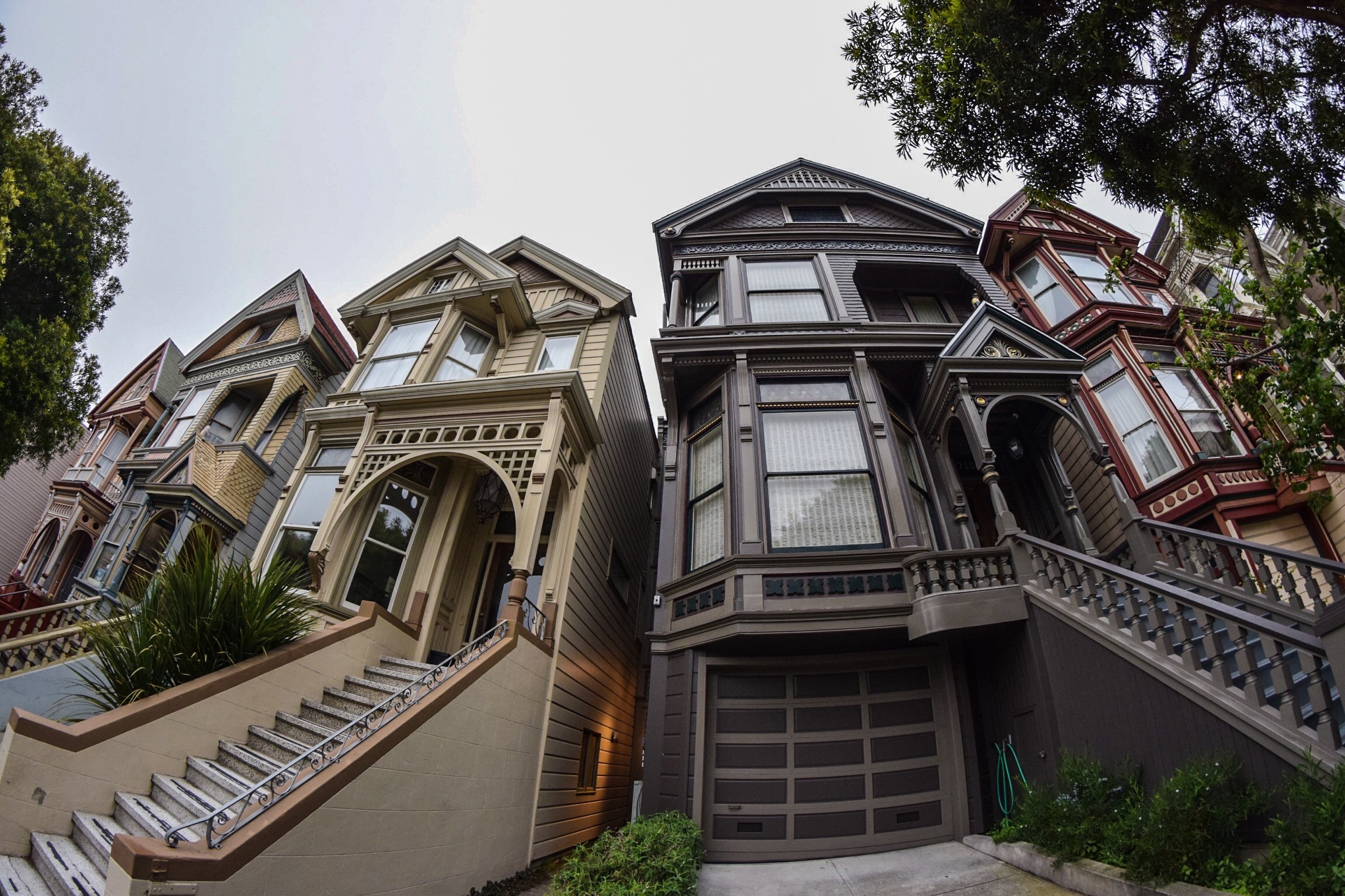 San Francisco - Beautiful Victorian homes abound in San Francisco, including here in Haight-Ashbury