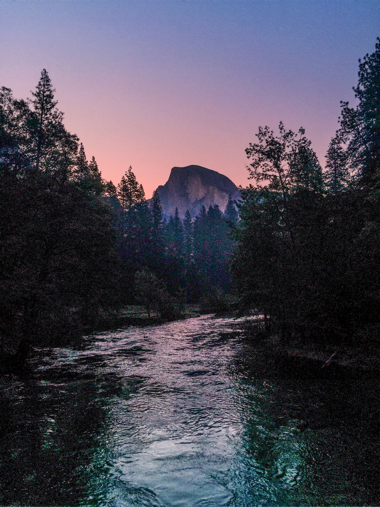 Yosemite - Half Dome at sunset