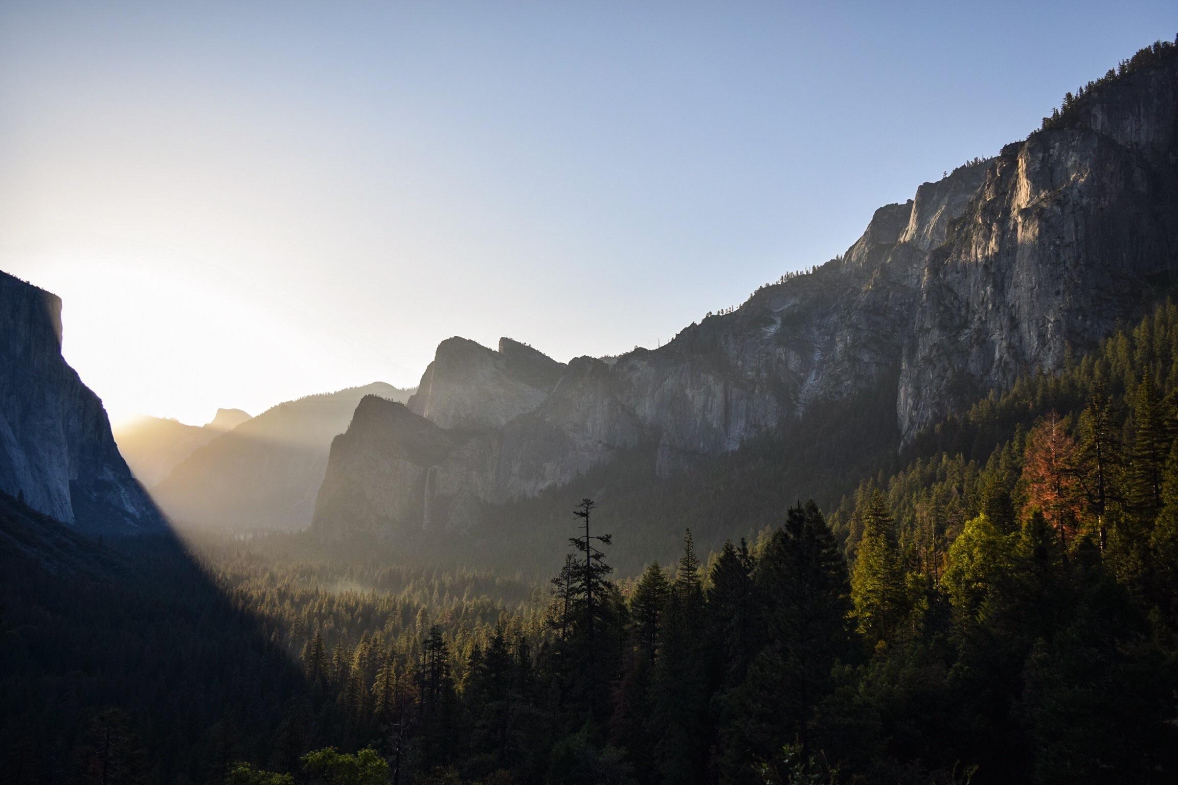 Yosemite - Tunnel View sunrise