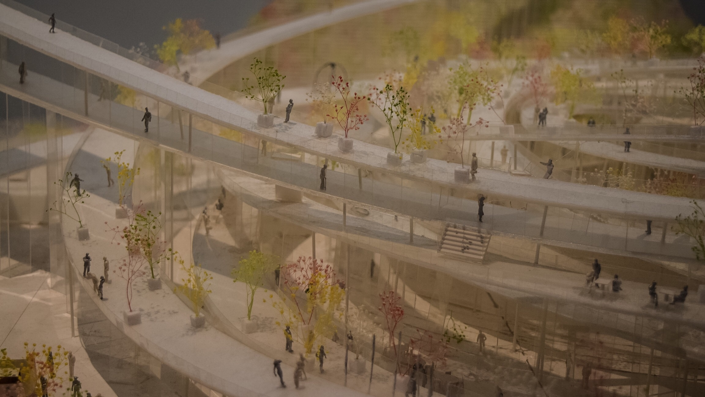 """Architectural models from """"A Japanese Constellation: Toyo Ito, SANAA, and Beyond"""""""
