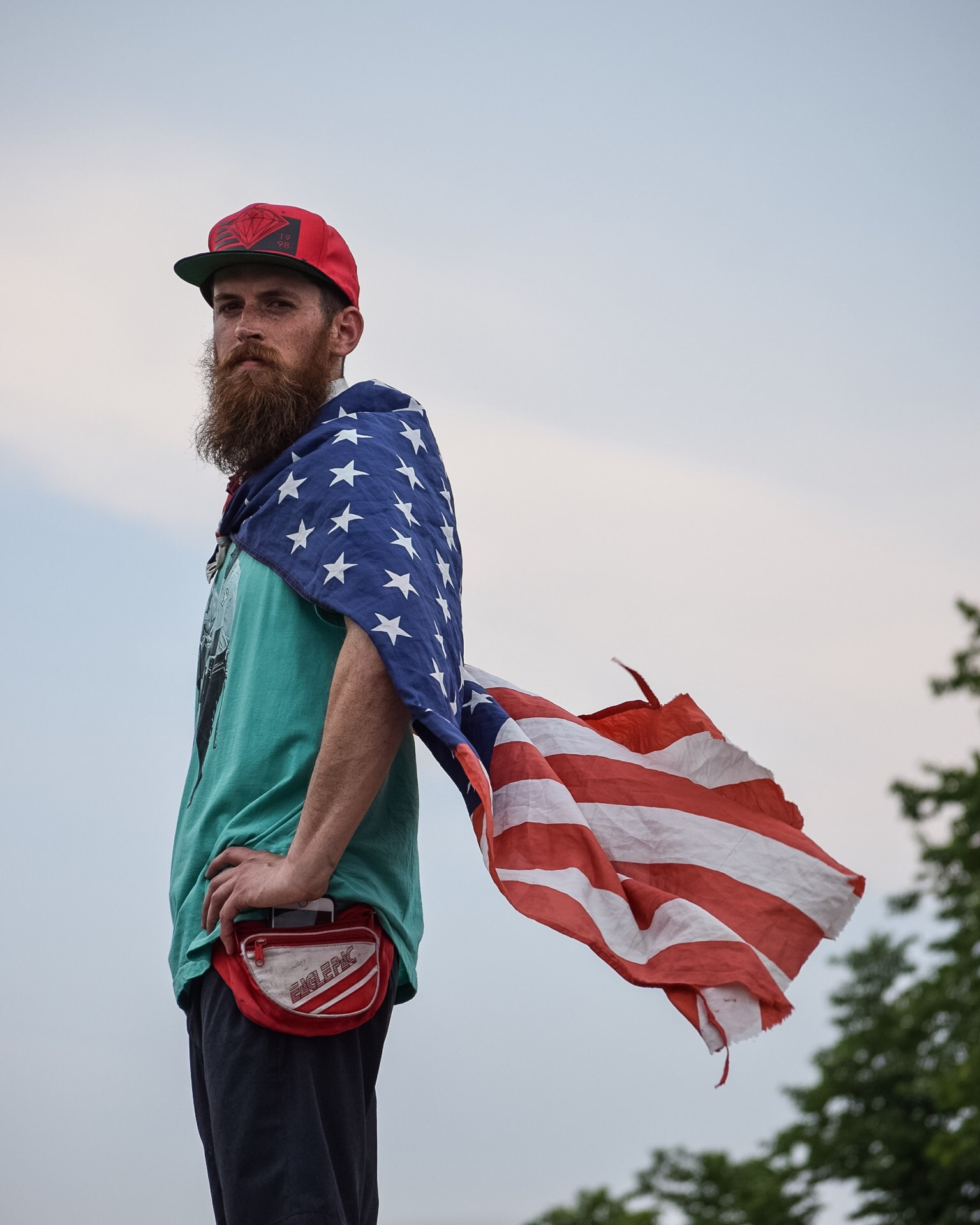 Protestor at the Wells Fargo Center