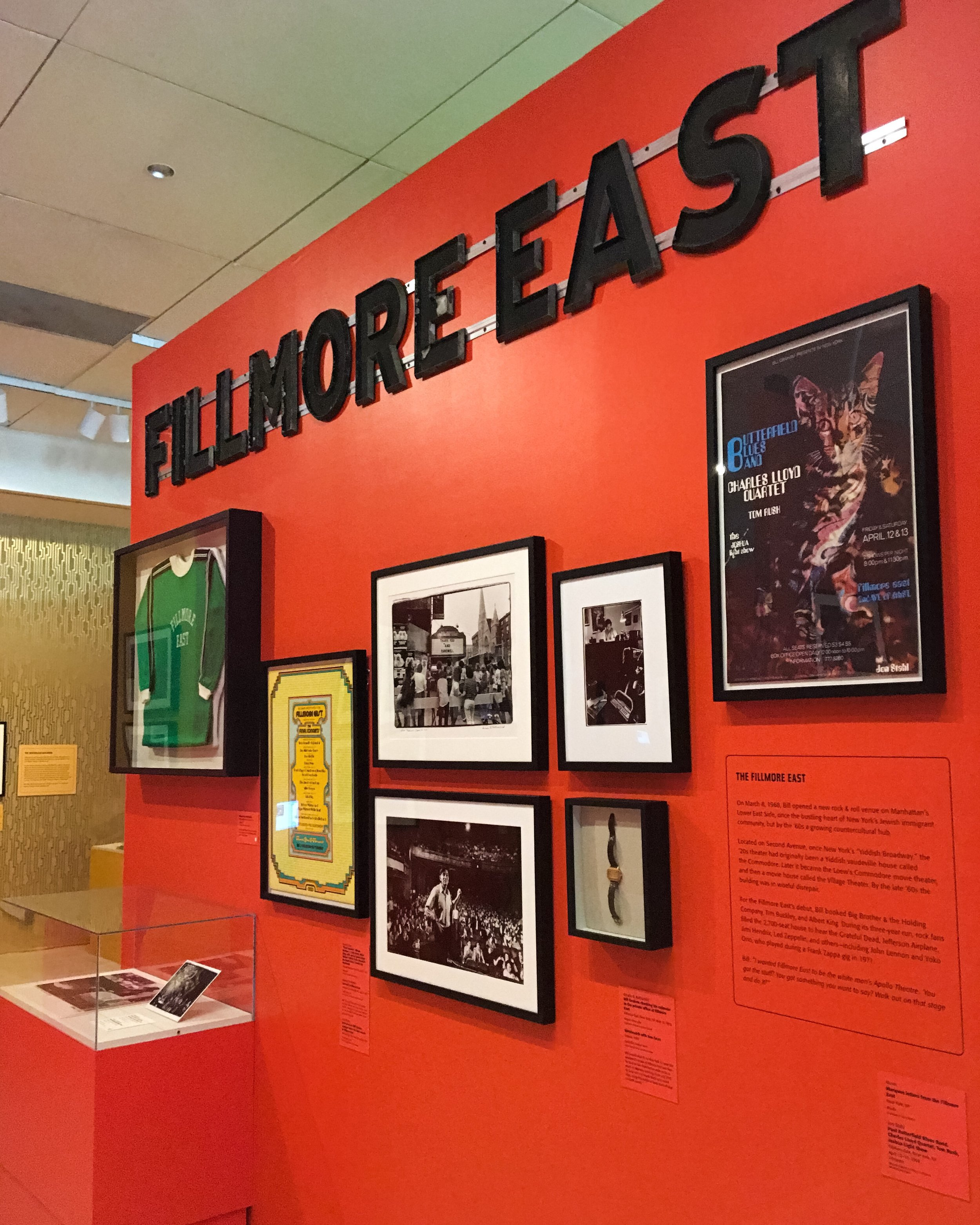 The actual letters which made up the sign outside the Fillmore East in New York until its closing in 1971.