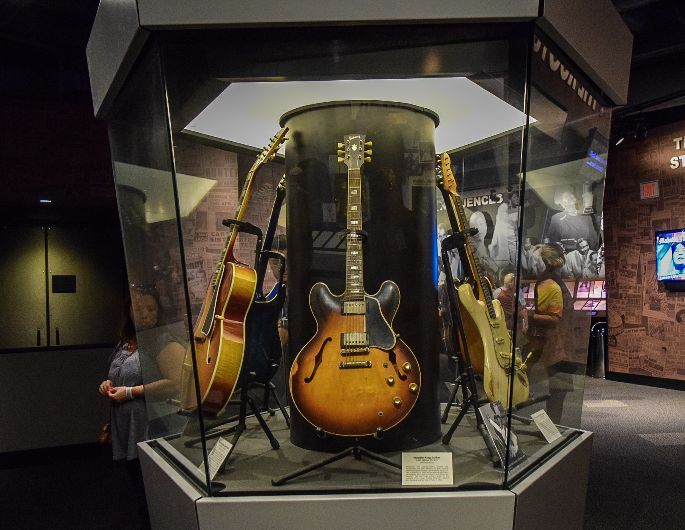 Iconic Foundations. Guitars played by legends of the blues including Muddy Waters, Howlin Wolf, John Lee Hooker, and more.