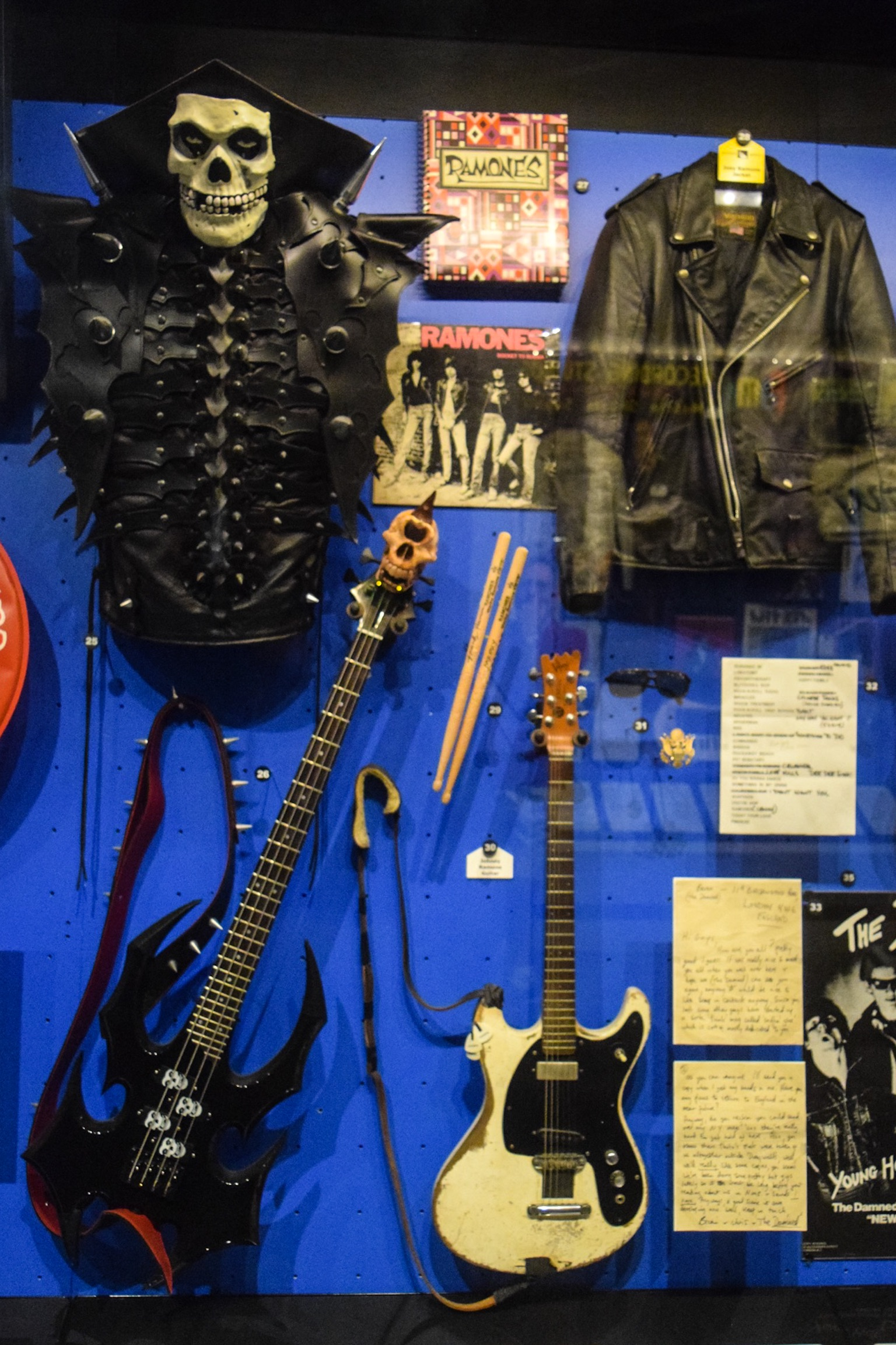 Punk display, featuring The Misfits, Ramones, Circle Jerks, and many more.