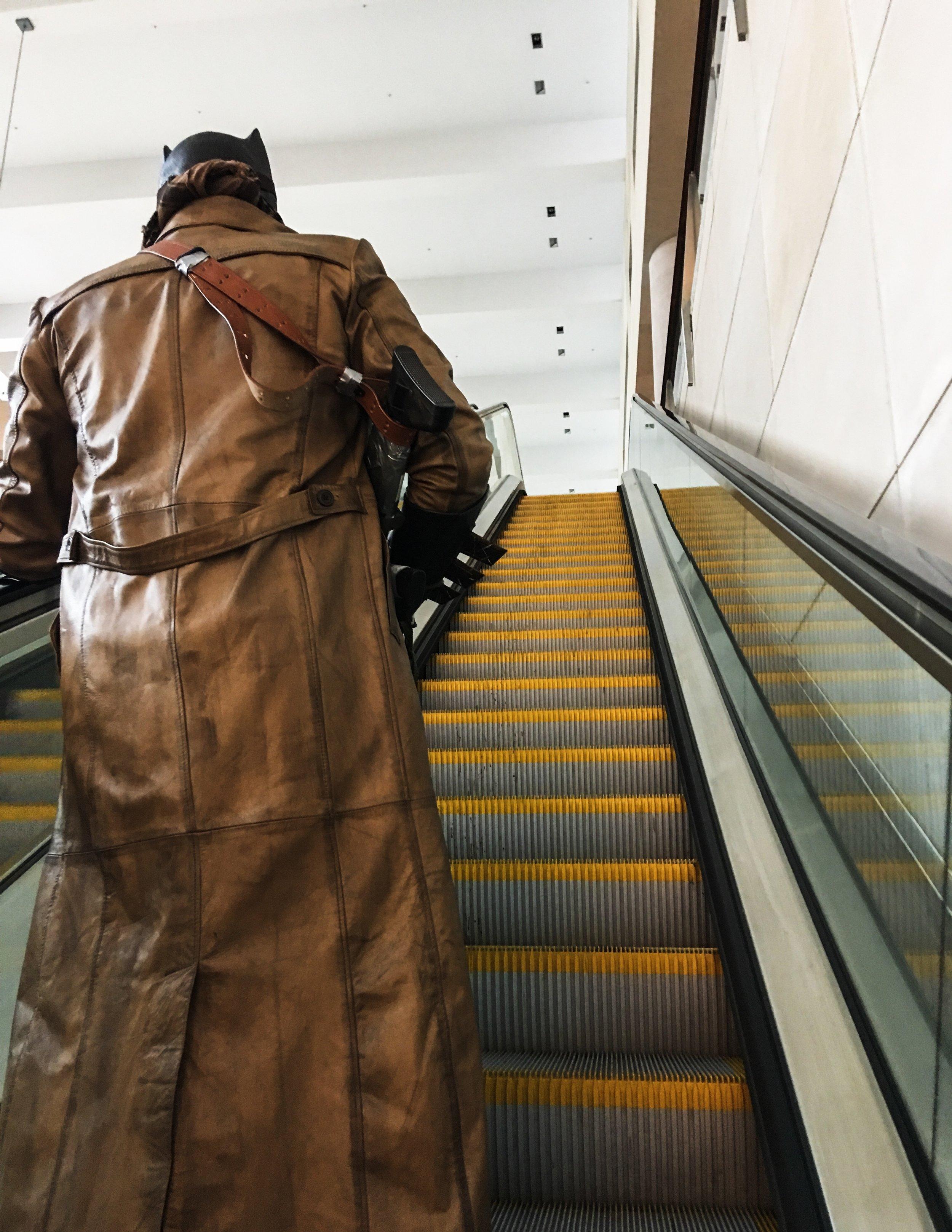 Same bat time, same bat escalator