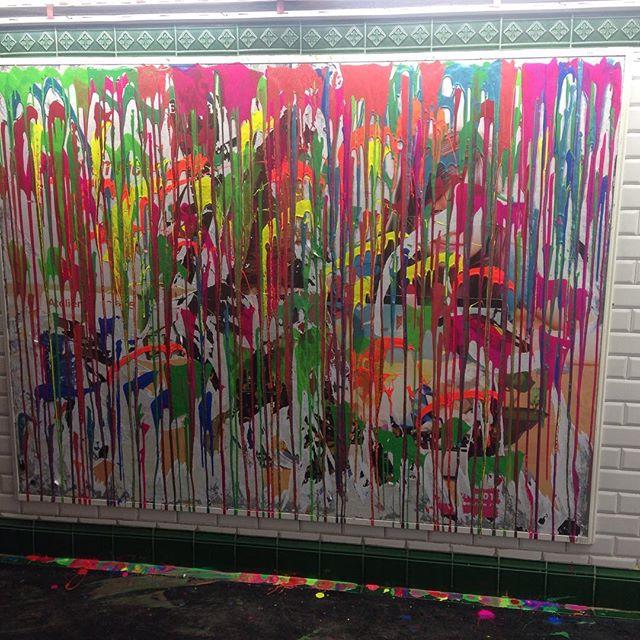 #metroart #coulures #couleurs