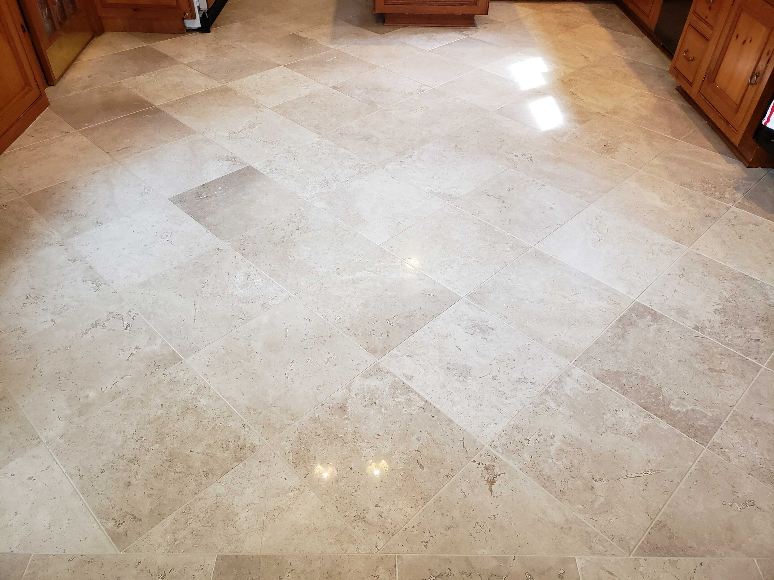 Cleaning - Our cleaners are specially designed to penetrate deep into your grout. During this process our cleaners will reopen the tiny pores in order to prepare your grout to be sealed and protected by our high quality Epoxy sealant.