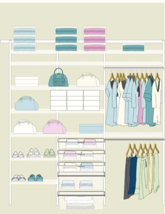 Monday: Elfa Closet Installation in Baby Milyo's nursery