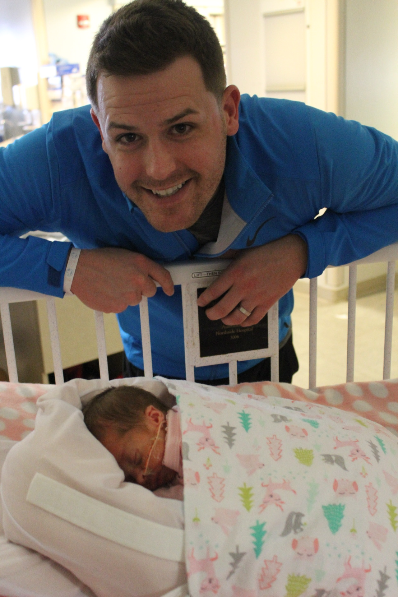 Channing graduated to an open crib.