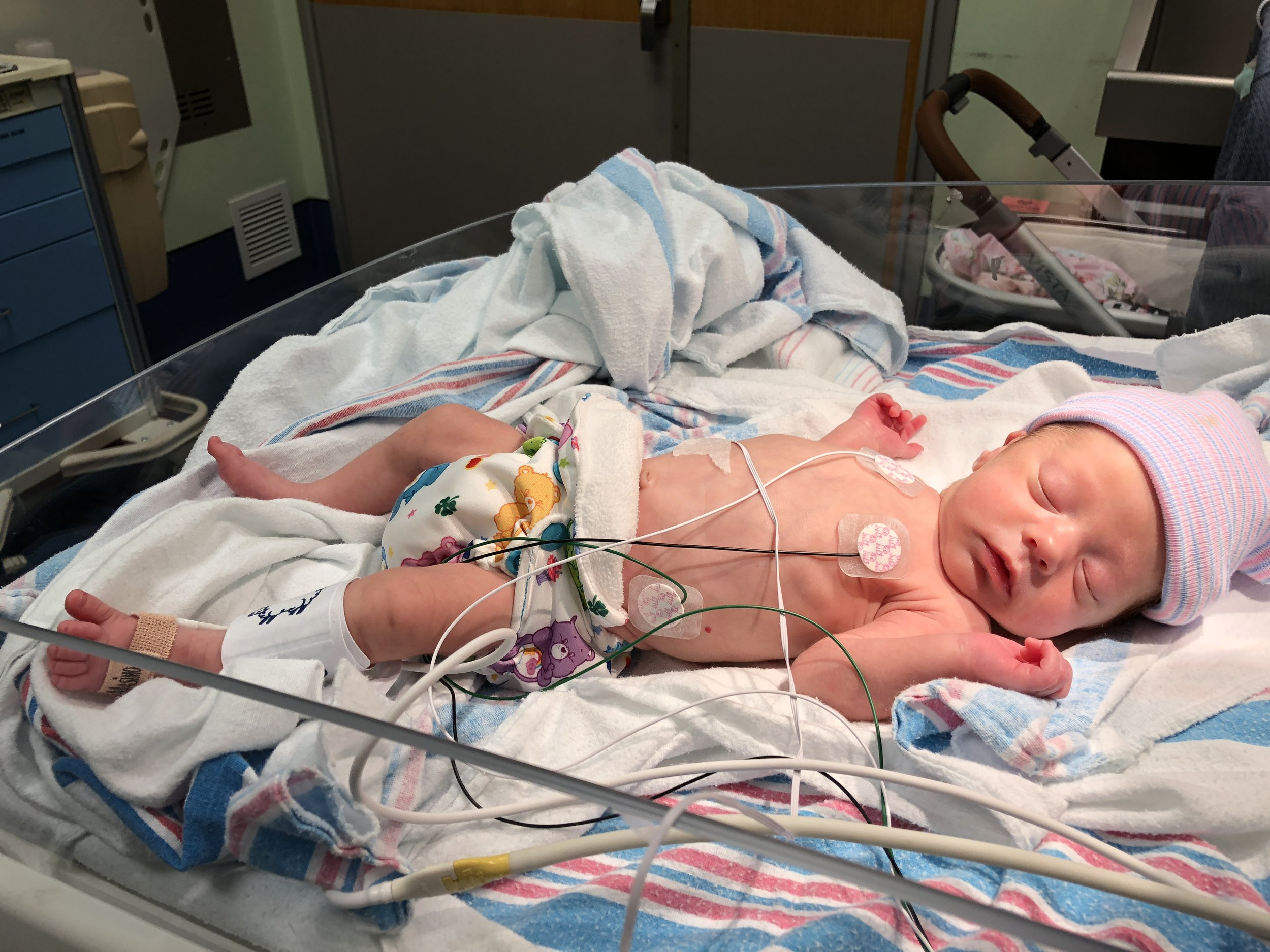Little joeys are made specifically for preemies and tiny newborns, channing is only 4 pounds in this photograph ( PICU, CHOA ).