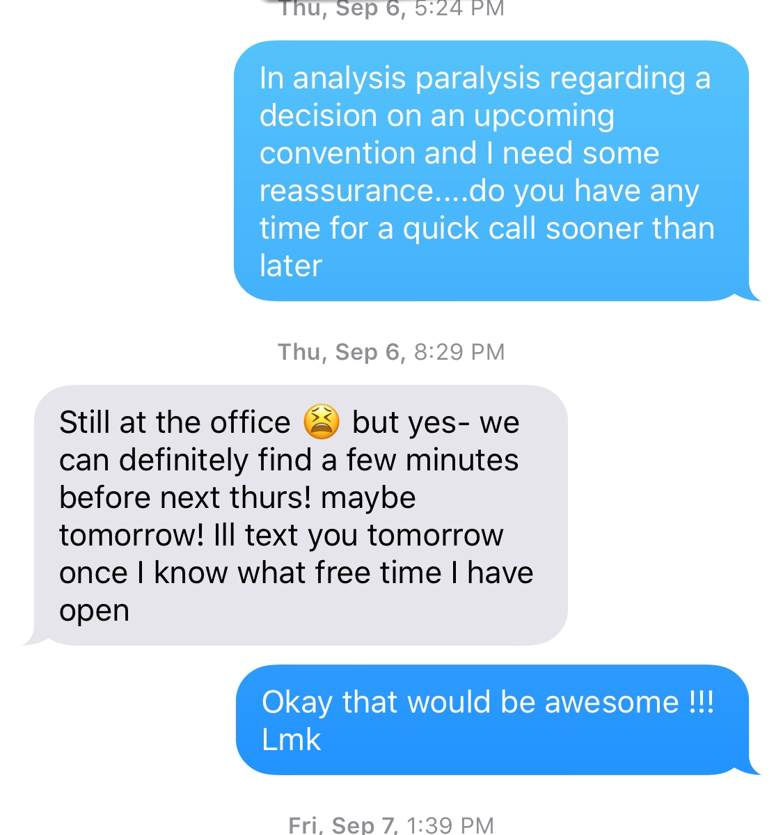 Text Message Conversation