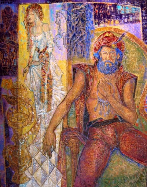 Barbe Bleue 114 x 146 cm , 45 x 58 inches