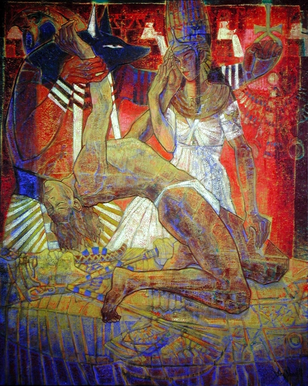 Isis et Osiris 162x130cm Paris ; 63 x50 inches